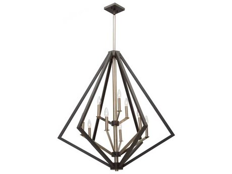 Artcraft Lighting Breezy Point Bronze Nine-Light 36'' Wide Chandelier ACAC10689BZ