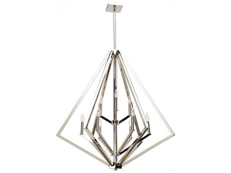 Artcraft Lighting Breezy Point Polished Nickel Nine-Light 36'' Wide Chandelier ACAC10689PN