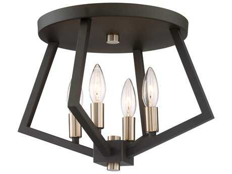 Artcraft Lighting Breezy Point Bronze Four-Light 16'' Wide Flush Mount Light ACAC10683BZ