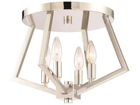 Artcraft Lighting Breezy Point Polished Nickel Four-Light 16'' Wide Flush Mount Light ACAC10683PN