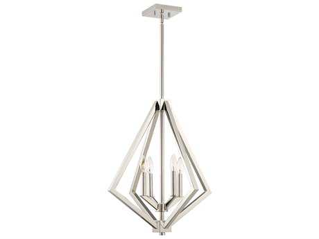 Artcraft Lighting Breezy Point Polished Nickel Four-Light 20'' Wide Mini Chandelier