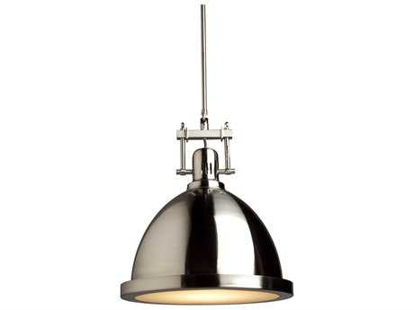 Artcraft Lighting Broadview Polished Nickel 12'' Wide Pendant Light ACSC290PN