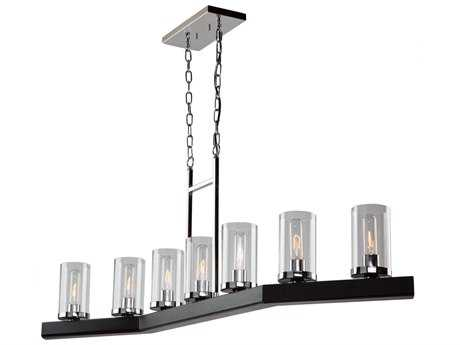 Artcraft Lighting Canyon Creek Black Seven-Light Island Light ACAC10847DC