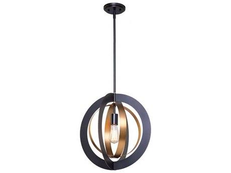 Artcraft Lighting Capri Dark Bronze / Satin Brass 17'' Wide Pendant Light ACAC11231