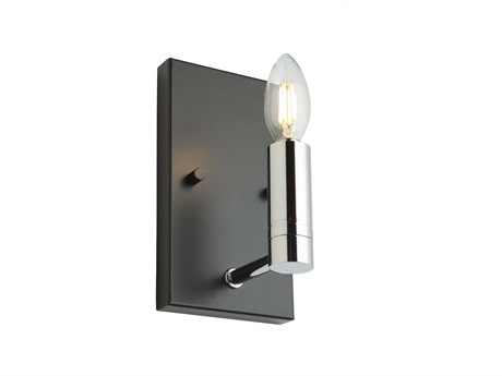 Artcraft Lighting Carlton Matte Black / Polished Nickel Wall Sconce
