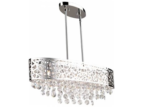 Artcraft Lighting Celestial Chrome Five-Light 30'' Wide Island Light ACAC11074CH