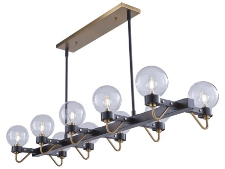Artcraft Lighting Chelton Matte Black / Harvest Brass 49'' Wide Island Light ACAC11420CL