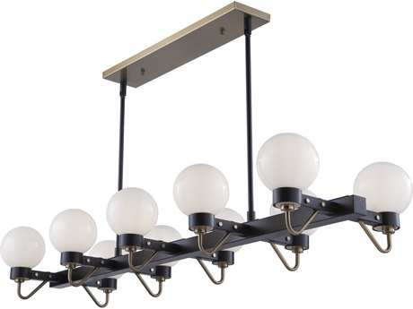 Artcraft Lighting Chelton Matte Black / Harvest Brass 49'' Wide Island Light ACAC11420WH