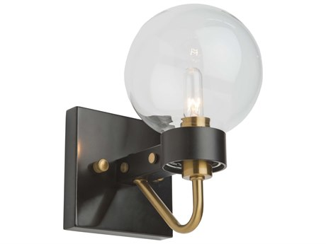 Artcraft Lighting Chelton Matte Black / Harvest Brass Wall Sconce ACAC11421CL