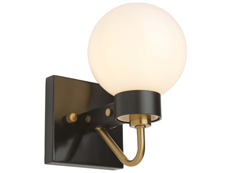 Artcraft Lighting Chelton Matte Black / Harvest Brass Wall Sconce ACAC11421WH