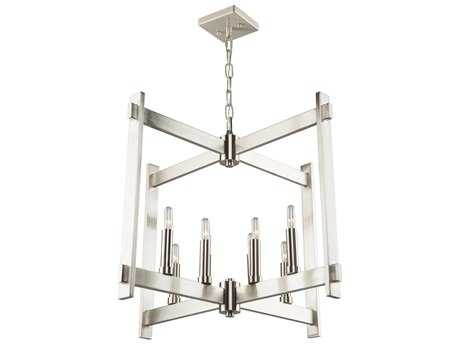 Artcraft Lighting Cityscape Polished Nickel Eight-Light 26'' Wide Chandelier ACCL15088PN