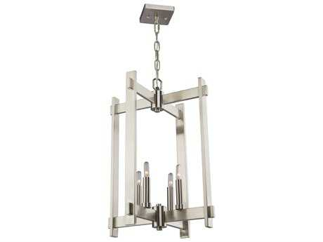 Artcraft Lighting Cityscape Polished Nickel Four-Light 16'' Wide Mini Chandelier ACCL15084PN