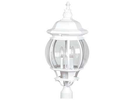 Artcraft Lighting Classico White Four-Light Outdoor Post Mount Light ACAC8493WH
