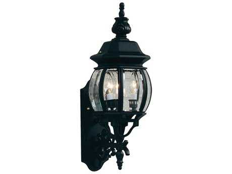 Artcraft Lighting Classico Black Three-Light Outdoor Wall Light ACAC8360BK