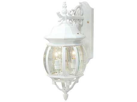 Artcraft Lighting Classico White Three-Light Outdoor Wall Light ACAC8361WH