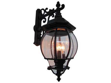 Artcraft Lighting Classico Black Four-Light Outdoor Wall Light ACAC8491BK