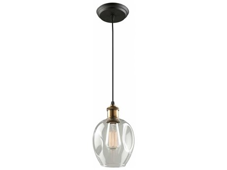 Artcraft Lighting Clearwater Vintage Brass 6'' Wide Mini Pendant Light ACAC10730VB