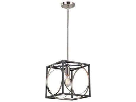 Artcraft Lighting Corona Black / Polished Nickel 10'' Wide Mini Pendant Light ACCL15090