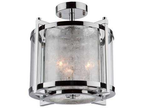 Artcraft Lighting Crackled Ice Chrome Three-Light Semi-Flush Light ACAC10804CH