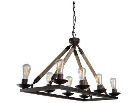 Artcraft Lighting Danbury Oil Rubbed Bronze Eight-Light 35'' Wide Island Light ACCL279