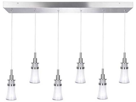 Artcraft Lighting Destiny Polished Nickel Six-Light 31'' Wide LED Island Light ACAC7506