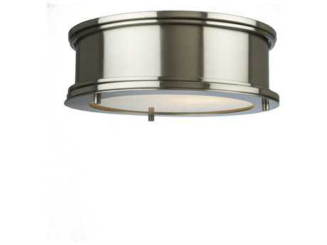 Artcraft Lighting Eastwick Brushed Chrome Two-Light Flush Mount Light ACSC13041BN