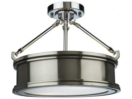 Artcraft Lighting Eastwick Brushed Chrome Two-Light Semi-Flush Light ACSC13042BN