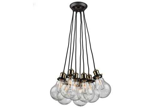 Artcraft Lighting Edison Eight-Light 20'' Wide Pendant Light ACAC10488