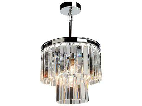 Artcraft Lighting El Dorado Chrome Three-Light 12'' Wide Mini Chandelier