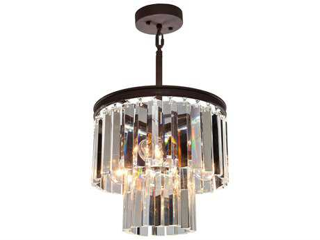 Artcraft Lighting El Dorado Java Brown Three-Light 12'' Wide Mini Chandelier