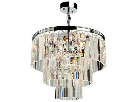 Artcraft Lighting El Dorado Chrome Nine-Light 18'' Wide Mini Chandelier