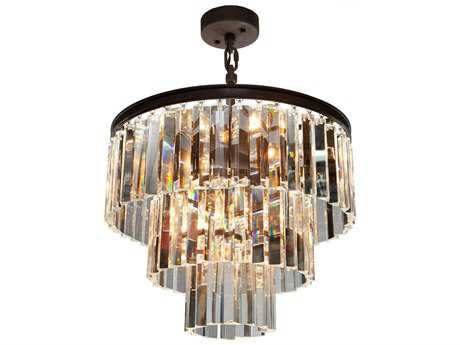 Artcraft Lighting El Dorado Java Brown Nine-Light 18'' Wide Mini Chandelier