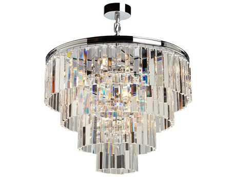 Artcraft Lighting El Dorado Chrome Nine-Light 24'' Wide Mini Chandelier
