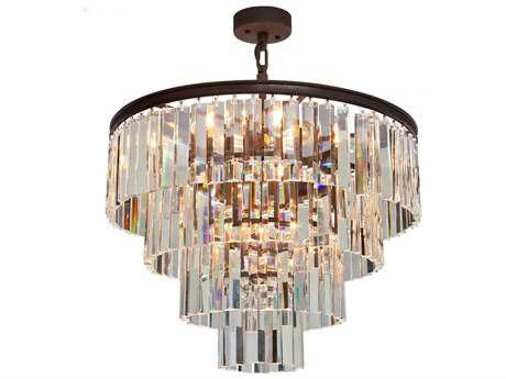 Artcraft Lighting El Dorado Java Brown Nine-Light 24'' Wide Mini Chandelier