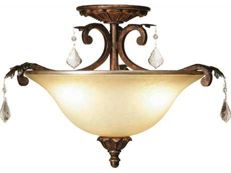Artcraft Lighting Florence Bronze Three-Light Semi-Flush Mount Light ACAC1832