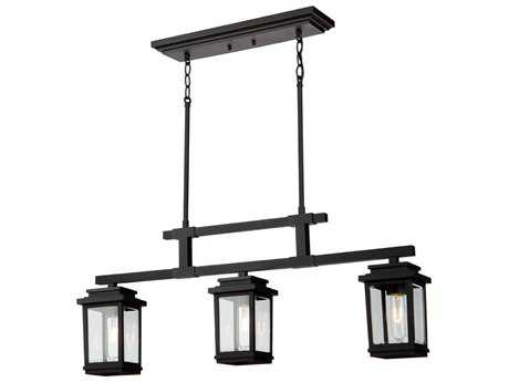 Artcraft Lighting Freemont Bronze Three-Light Outdoor Hanging Light ACAC8197BK