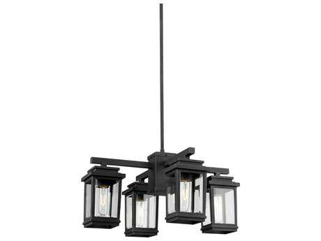 Artcraft Lighting Freemont Bronze Four-Light Outdoor Hanging Light ACAC8198BK