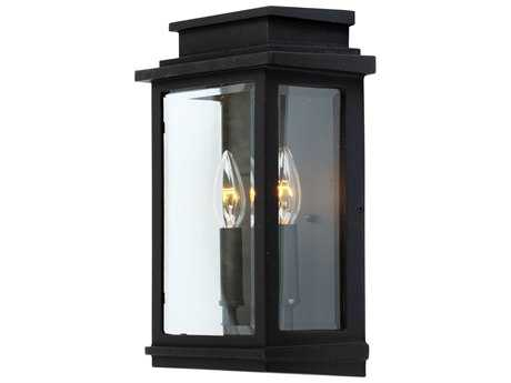 Artcraft Lighting Fremont Black Two-Light Outdoor Wall Light ACAC8391BK