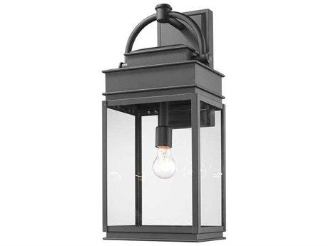 Artcraft Lighting Fulton Black 10'' Wide Outdoor Wall Light ACAC8240BK
