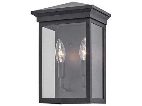 Artcraft Lighting Gable Black Two-Light 8'' Wide Outdoor Wall Light ACAC8161BK
