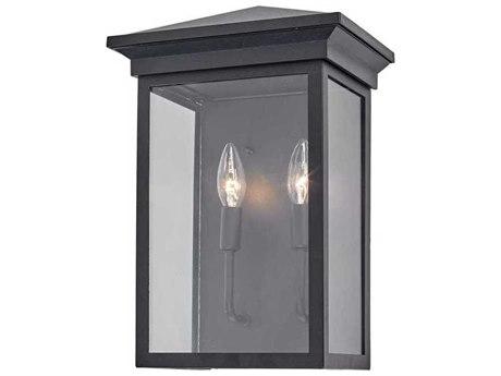 Artcraft Lighting Gable Black Two-Light 10'' Wide Outdoor Wall Light ACAC8462BK