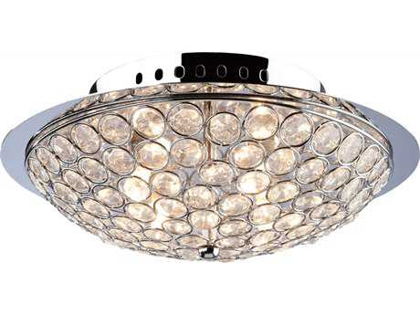 Artcraft Lighting Gage Park Chrome Three-Light 10'' Wide Flush Mount Light ACAC10100