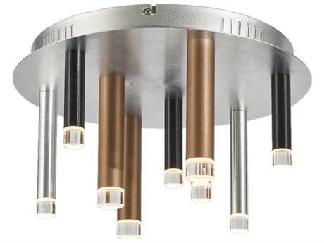 Artcraft Lighting Galiano Black, Copper, Satin Aluminum 15'' Wide LED Flush Mount Light ACAC7089MU