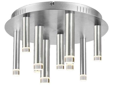 Artcraft Lighting Galiano Satin Aluminum 15'' Wide LED Flush Mount Light ACAC7089SA