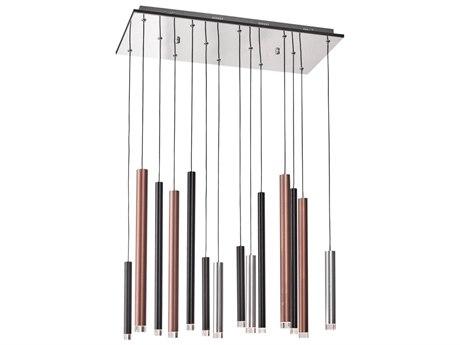 Artcraft Lighting Galiano Black, Copper, Satin Aluminum 27'' Wide LED Island Light ACAC7099MU