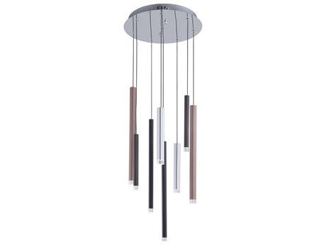 Artcraft Lighting Galiano Black, Copper, Satin Aluminum 15'' Wide LED Pendant ACAC7088MU