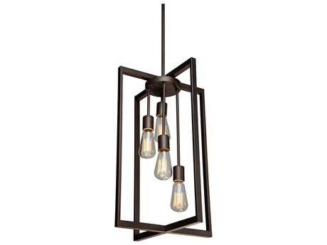 Artcraft Lighting Gastown Oil Rubbed Bronze Four-Light 15'' Wide Mini Chandelier ACAC10414