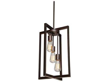 Artcraft Lighting Gastown Oil Rubbed Bronze Three-Light 12'' Wide Pendant Light ACAC10413