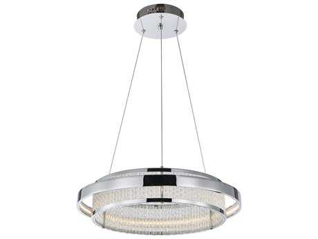 Artcraft Lighting Gemma Chrome 18'' Wide Pendant Light ACAC7050