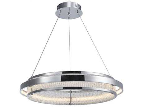 Artcraft Lighting Gemma Chrome 23'' Wide Pendant Light ACAC7051